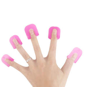Nail Polish Remover Clips Caps UV Gel Polish Removal Wraps