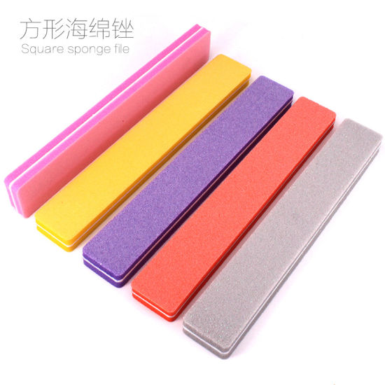 Soft Sponge Nail Art Tips Buffer Double Side Nail File Buffing