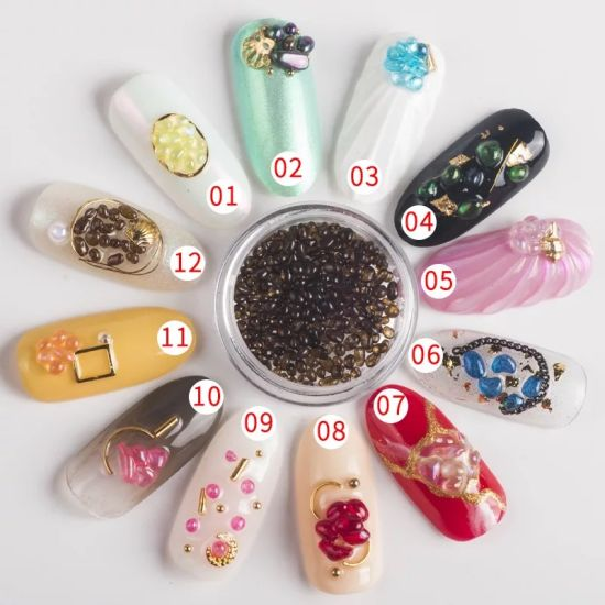 Colorful Nail Gems Opal Rhinestones Glass Stones for Nail Art