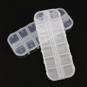 Empty Nail Manicure Storage Box Nail Jewelry Container Tools Accessories