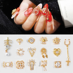 Top-Level Quality Zircon Crystal Manicure Diamond Charms Nail Art Jewelry