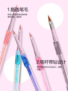 Nail Art Brush Tools Set Builder Painting Drawing Brushes Pens