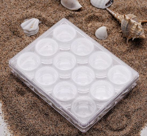 12PCS Plastic Stone Case Set Nail Art Jewelry Accessories Containers