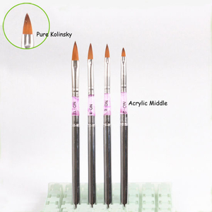 Copper Tube Acrylic Nail Brush Nail Art Tool