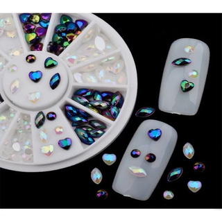 Mixed Shapes Ab Color Pearls Diamonds for Nail Art