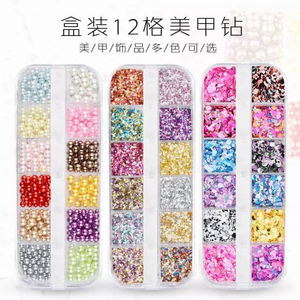 Glitter Sequins Multi-Color Multi-Size Nail Rhinestones Nail Art Decorations