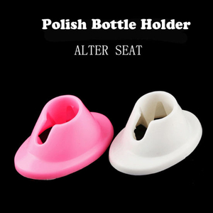 Silicone Rubber Bottle Holder Nail Art Seat Nail Polish Bracket