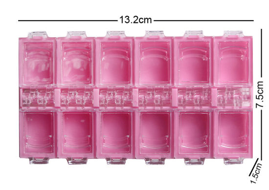 Empty Plastic Storage Box Jewelry Beads Container Accessories Nail Tool