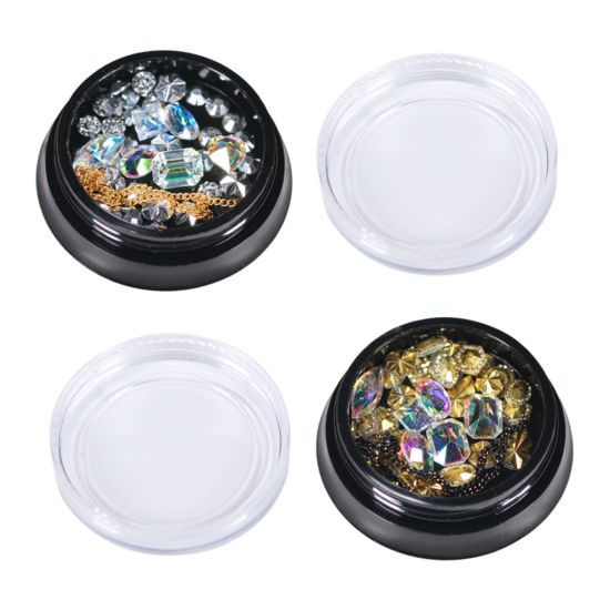 Hot Sales Metal Nail Art Stickers Rhinestones for Nail Decoration