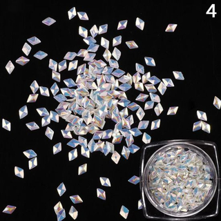 3D Rhombus Shape Glitter Paillette Powder Manicure Decoration