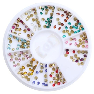 Wheel Rhinestones Diamond Jewelry Nail Art Maicure Decoration