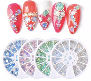 Opal Color Crystal Stones Glass Rhinestones Stones for Nails Art