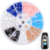 3D Semi-Circle Ab Color Pearl Beads for Nail Art Manicure