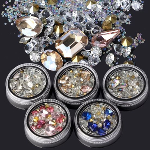 Mix Shapes Glitter Diamond Beads Frosted Nail Art Rhinestones DIY