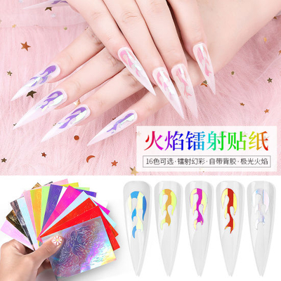 Fire Shape Nail Stickers Nail Art Stickers Nail Accessories